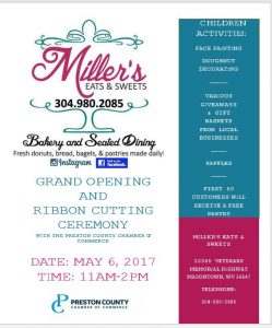 Ribbon Cutting Ceremony & Grand Opening @ Miller's Eats and Sweets | Masontown | West Virginia | United States