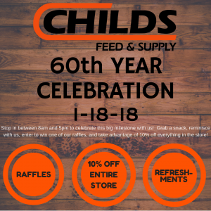 Child's Feed and Supply 60th Year Celebration