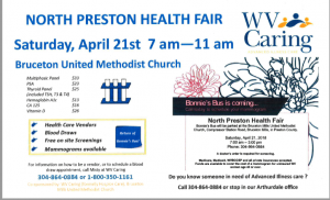 North Preston Health Fair @ Bruceton Methodist Church | Bruceton Mills | West Virginia | United States